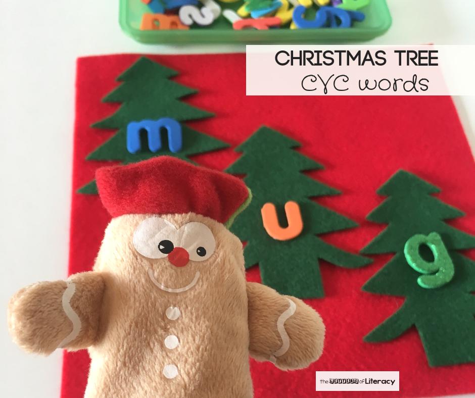 Christmas Tree CVC Words Activity for Kindergarten!
