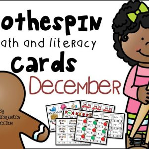 December Clothespin Cards Cover