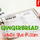 FREE Gingerbread Write the Room Printable Activity for Kindergarten!