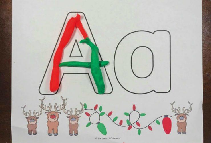Christmas Alphabet Play Dough Mats