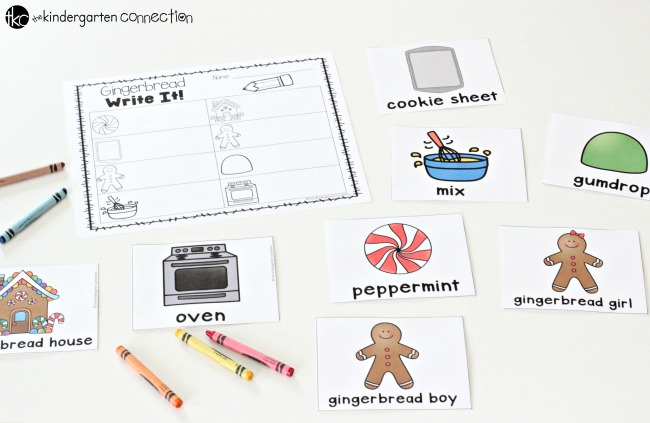 Students will have a blast reading and writing with this free gingerbread hide and seek writing printable. It is a must have for your writing center this holiday season!