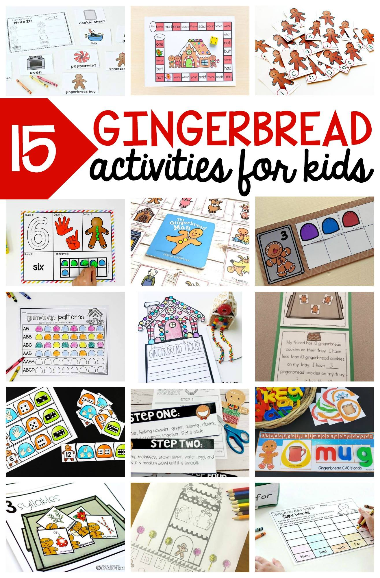 gingerbread activities for Kindergarten