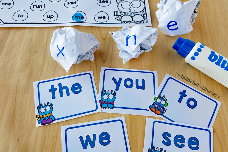 FREE Printable Snowball Sight Word Activity for Kindergarten!