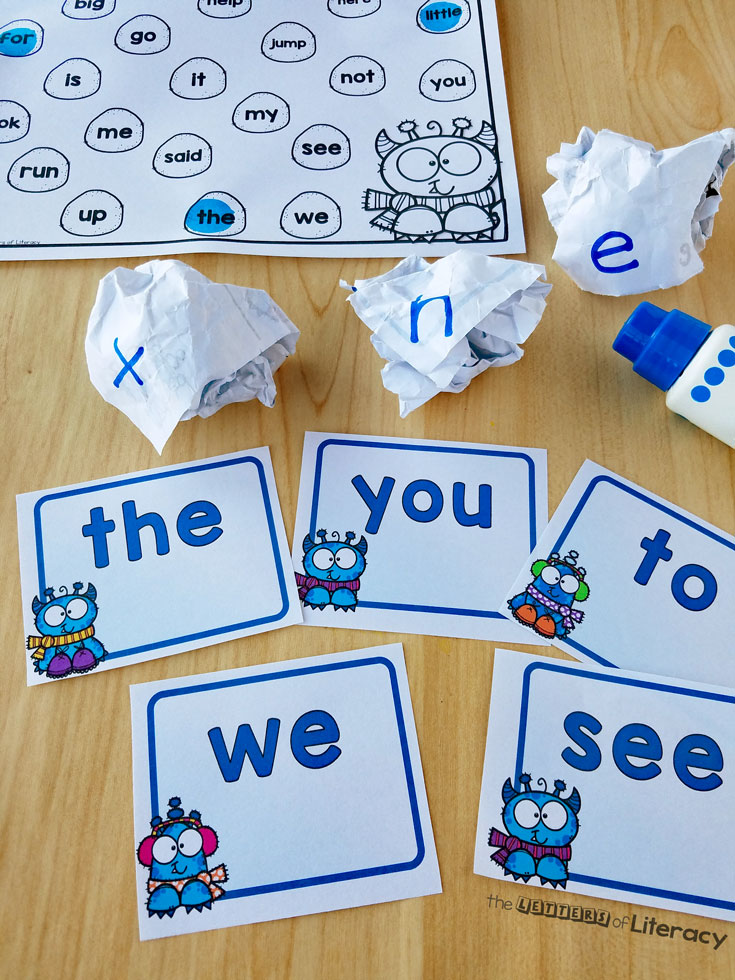 Snowball Sight Word Activity