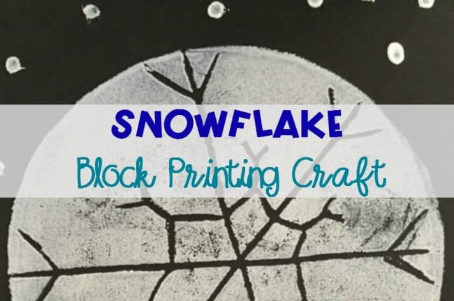 Easy Snowflake Art Project for Kids