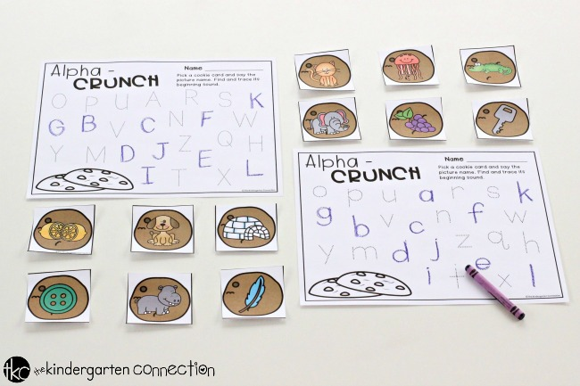 Alpha Beginning Sounds Cookie Crunch Center Activity