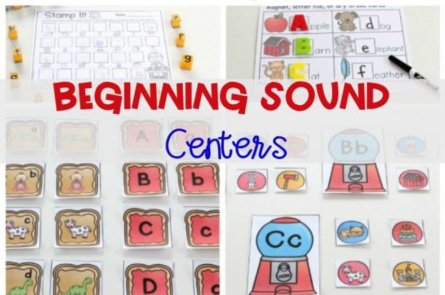 Beginning Sounds Center Activities