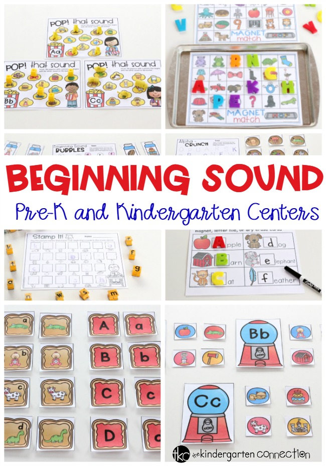 Beginning Sounds Center Activities for Pre-K and Kindergarten!