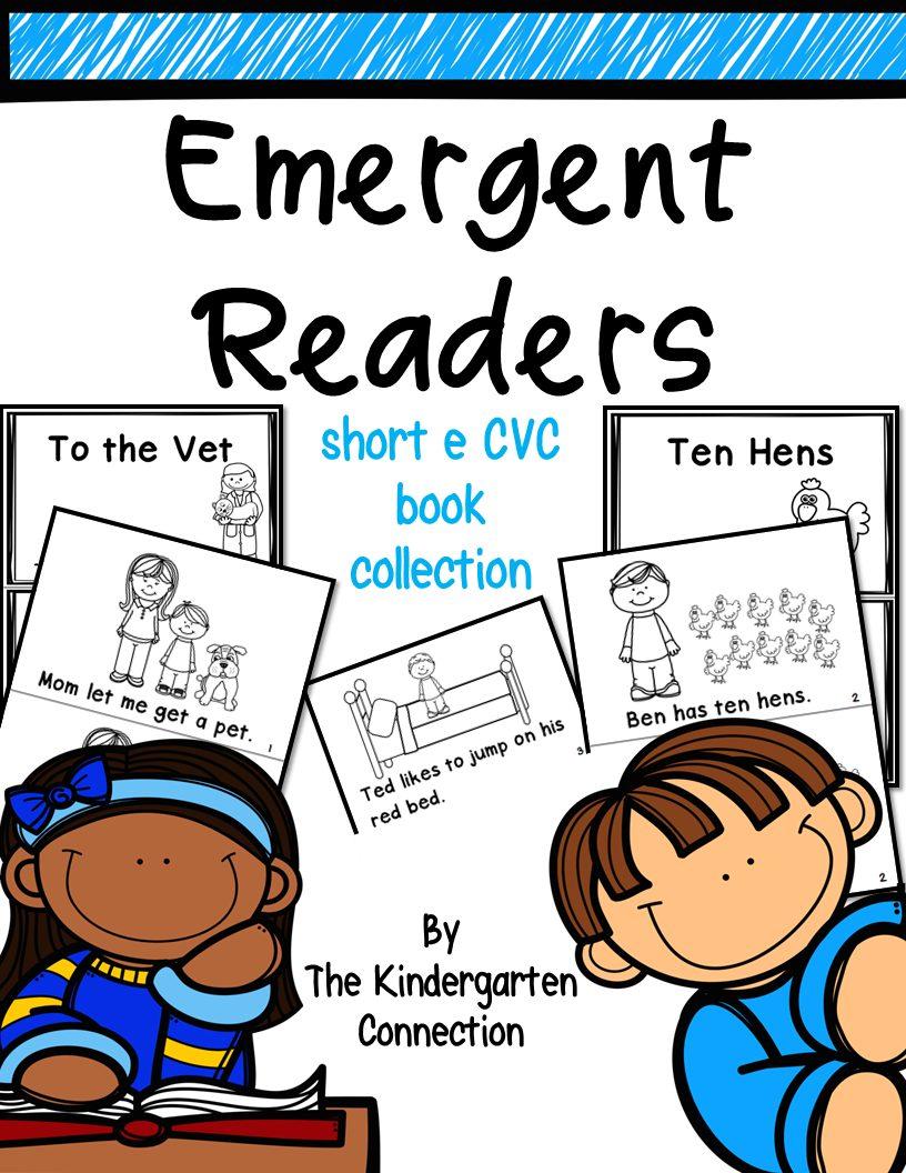Emergent Readers Short E CVC Word Family Books