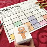 Christmas Roll and Graph Math Activity for pre-k and kindergarten, FREE Printable math center!