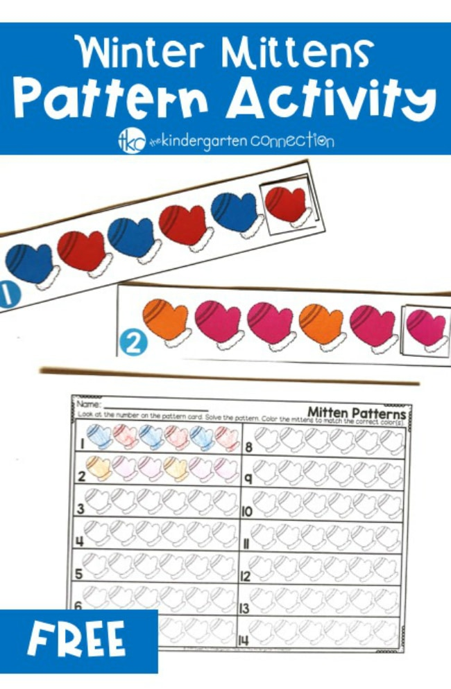 image relating to Printable Mitten Pattern named Totally free Printable Winter season Mittens Coloration Practice Game for