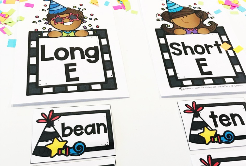 New Year's Long and Short Vowel Sound Sort, FREE Printable for Kindergarten!
