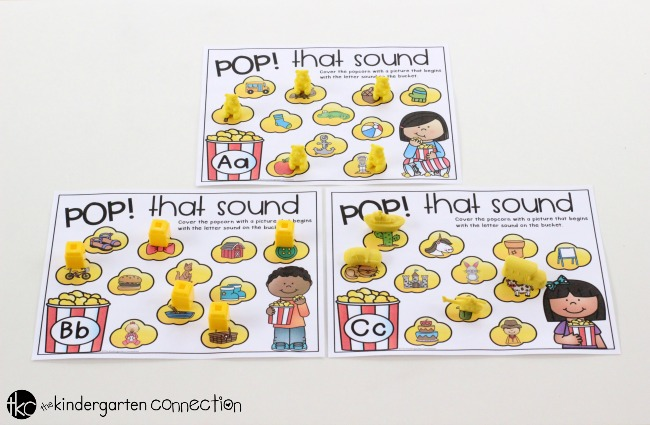 "Beginning Sounds ""Pop that Sound"" Center Activity"