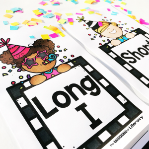 New Years Short and Long Vowel Sort Activity, Free Printable for Kindergarten