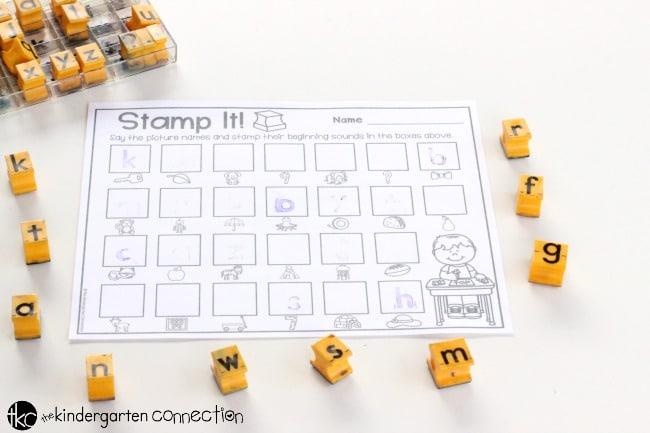 Beginning Sounds Stamp It Center Activity