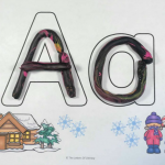 FREE Winter Alphabet Play Dough Mats