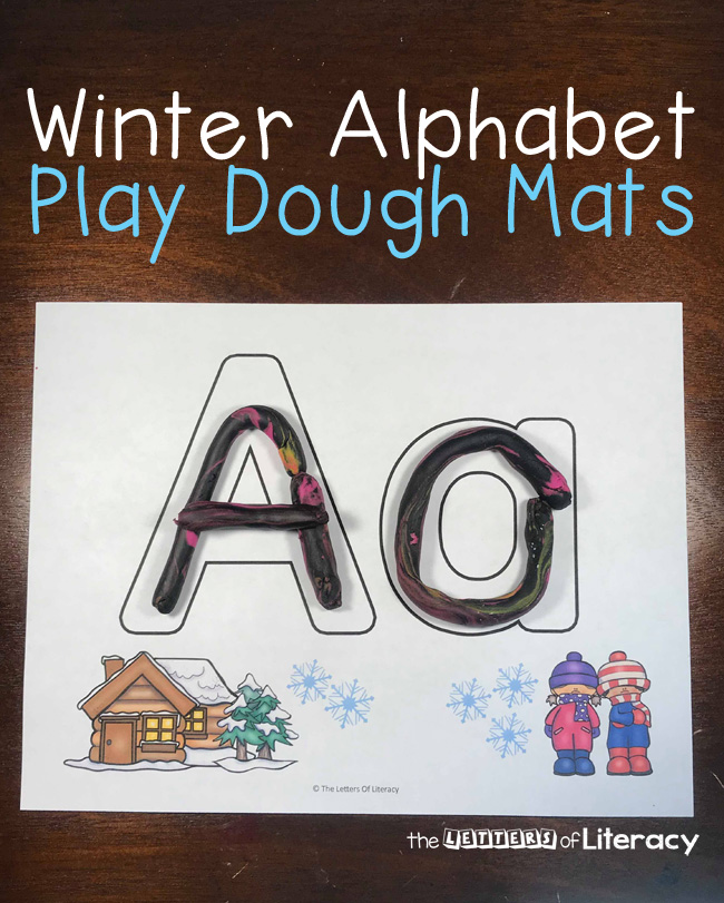 FREE Printable Alphabet Play Dough Mats fro Pre-K and Kindergarten literacy centers!