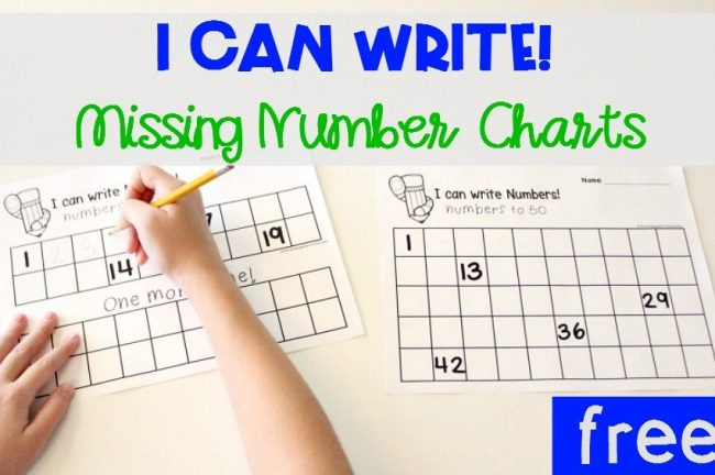 Write Numbers FREE Printable