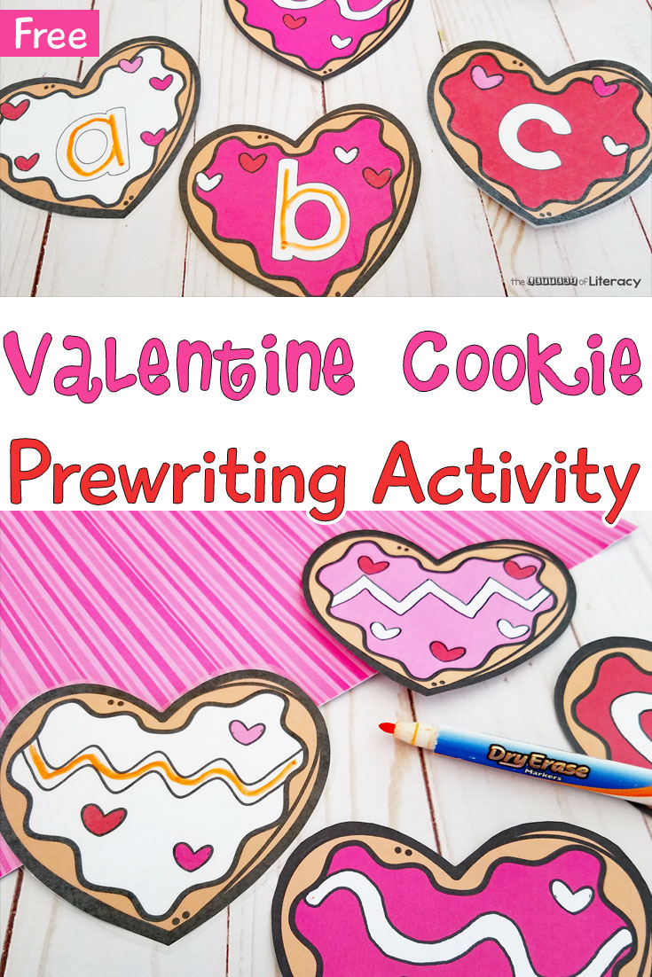 photograph relating to Valentine Clip Art Free Printable named No cost Printable Valentines Working day Cookie Pre-Creating Recreation