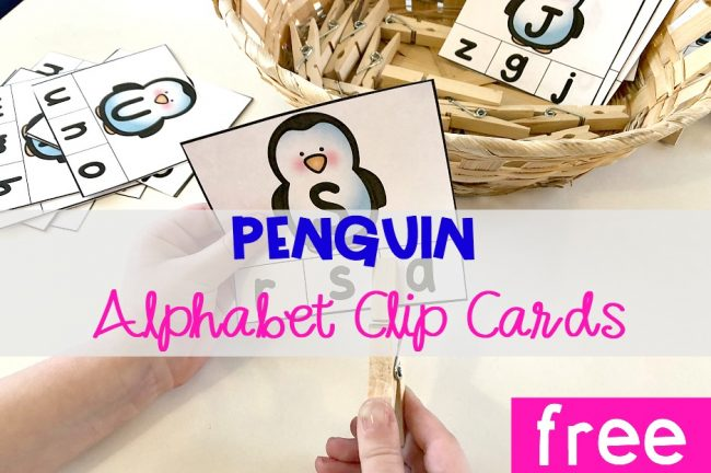 Penguin Alphabet Clip Cards