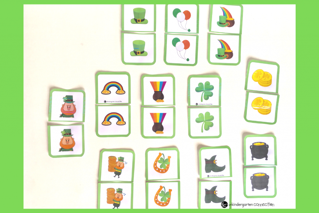 photo regarding Printable Memory Game identified as Free of charge St. Patricks Working day Printable Matching Recreation for Small children!
