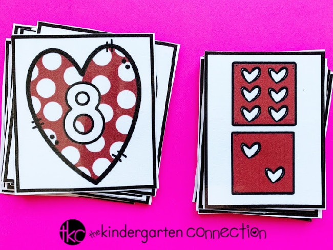 Grab our FREE Valentine's Day Subitizing Activity for Kindergarten! Children will work on subitizing heart dice by sorting, matching and using our included Heart Dice Subitizing Recording Sheet!