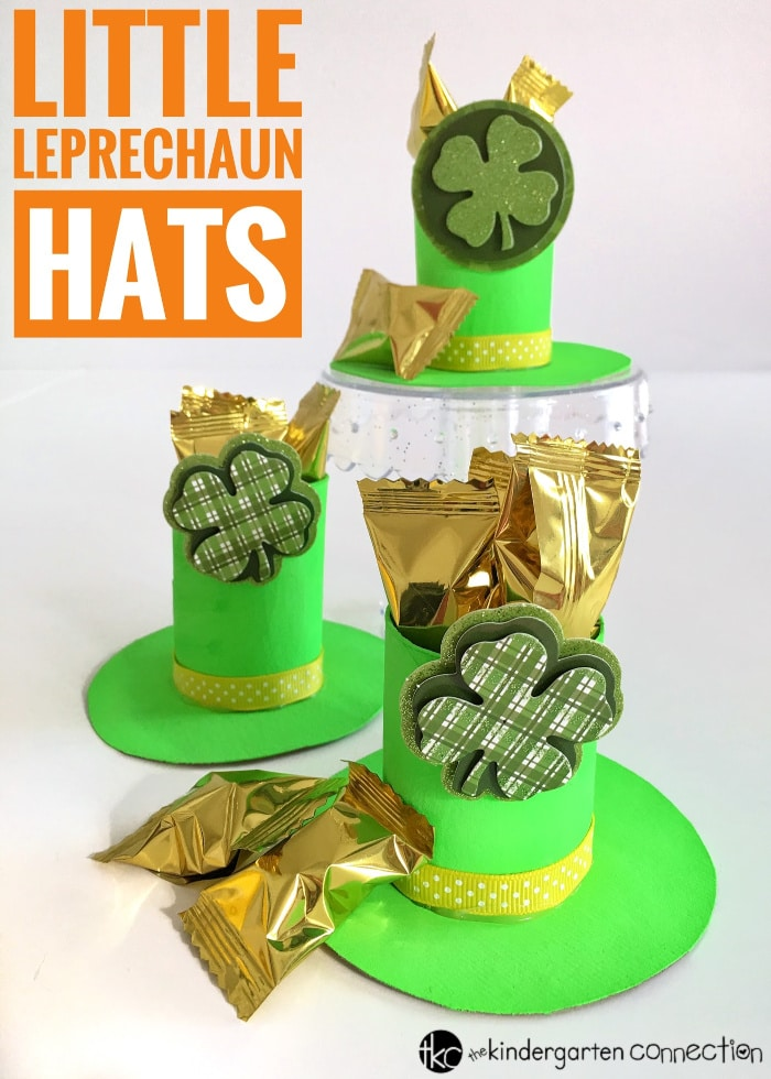 This Little Leprechaun Hat St. Patrick's Day Craft is easy for kids to make! The best part is you can use supplies you already have on hand! This craft can be used to decorate a table centerpiece or for name cards at your next party or celebration!