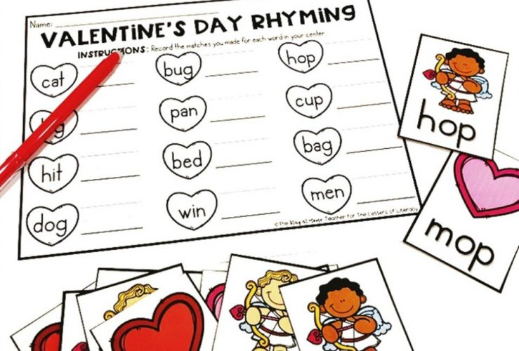 Valentine's Day Rhyming Activity