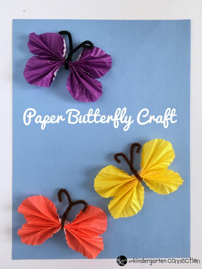 Paper Butterfly Easy Spring Craft For Kids Tutorial