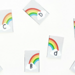Rainbow Printable Alphabet Matching Game