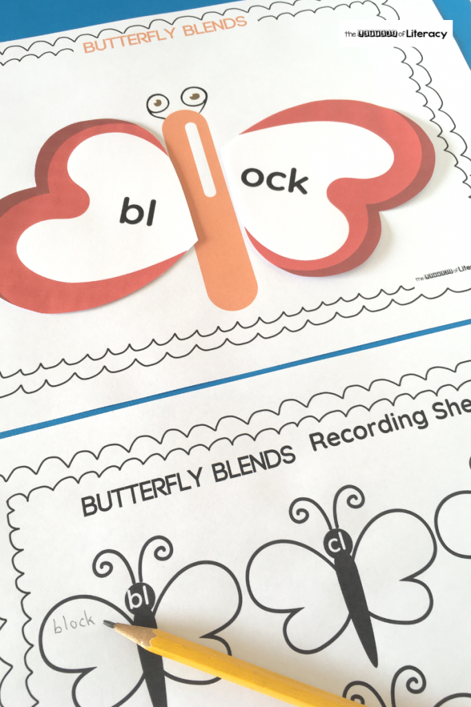 "This Butterfly Blends Activity has children practicing ""l"" blends in a fun, hands-on way this spring! Our FREE printable includes a recording sheet too!"