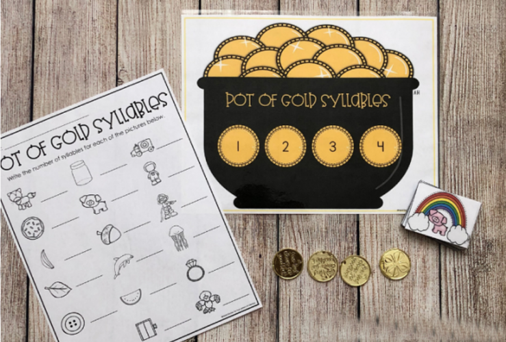 Pot of Gold Syllable Counting Activity