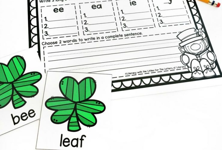 St. Patrick's Day Sorting Long E Activity