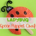 Ladybug Spoon Puppet Craft for Kids