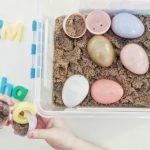 Easter Sensory Bin Letter Find