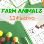 Farm Animals 20 Frames Math Mats