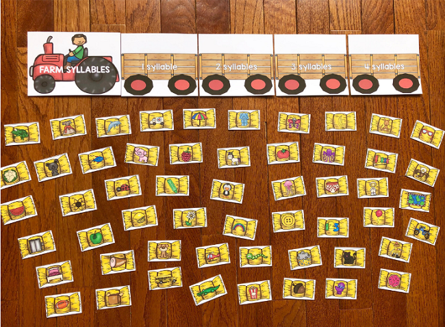 Start sorting syllables with your students in a whole new way with this FREE Printable Farm Syllable Sort Activity!