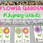 Flower Garden Rhyming Words Sensory Bin