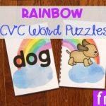 Rainbow CVC Word Puzzles