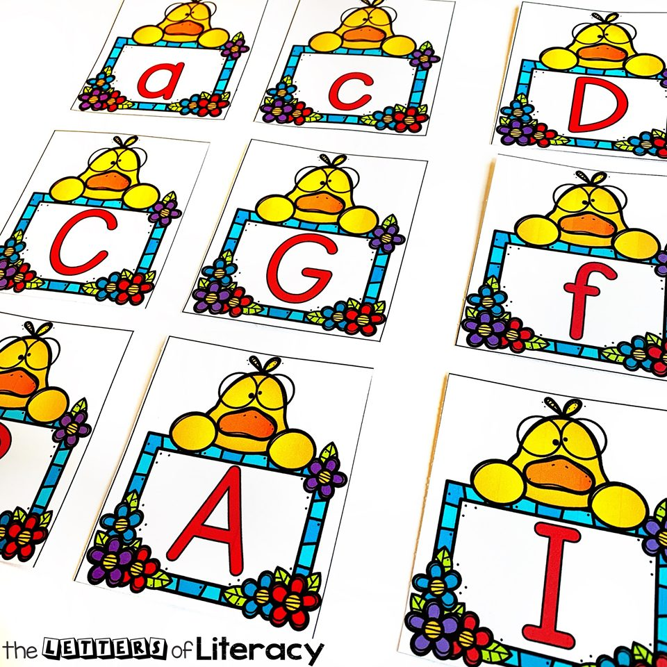 Grab our FREE Printable Lucky Ducks Alphabet Match cards for your pre-k or kindergarten classroom literacy center! These pair perfectly with a farm theme in the springtime!