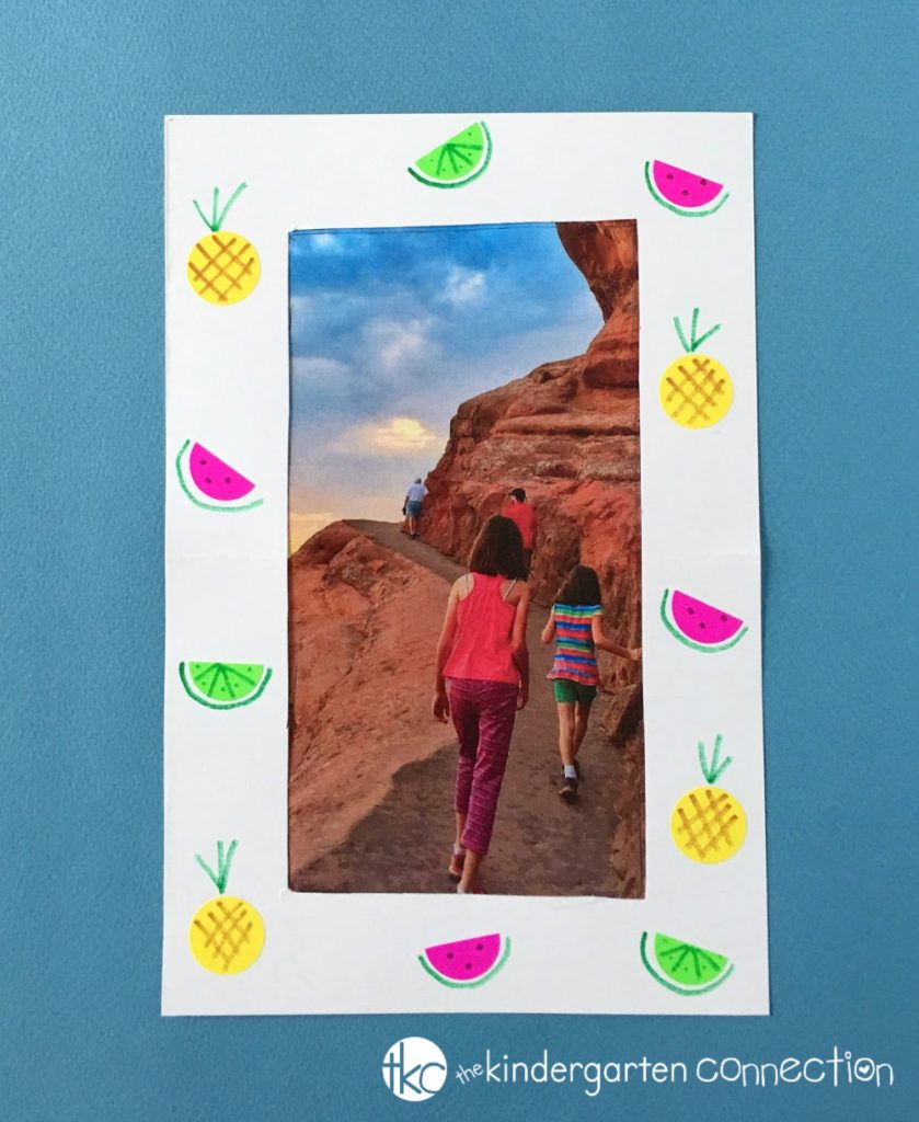 Check out this Fruit Themed Photo Frame Easy Summer Craft for Kids! Our tutorial is super easy to follow and you'll be surprised at how simple this art project is. Just a few frugal supplies and you can create a lasting photo frame for special summertime memories!