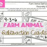 Farm Animal Subtraction Cards