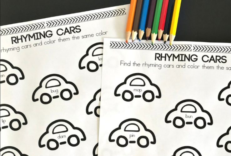 Cars Rhyming Activity