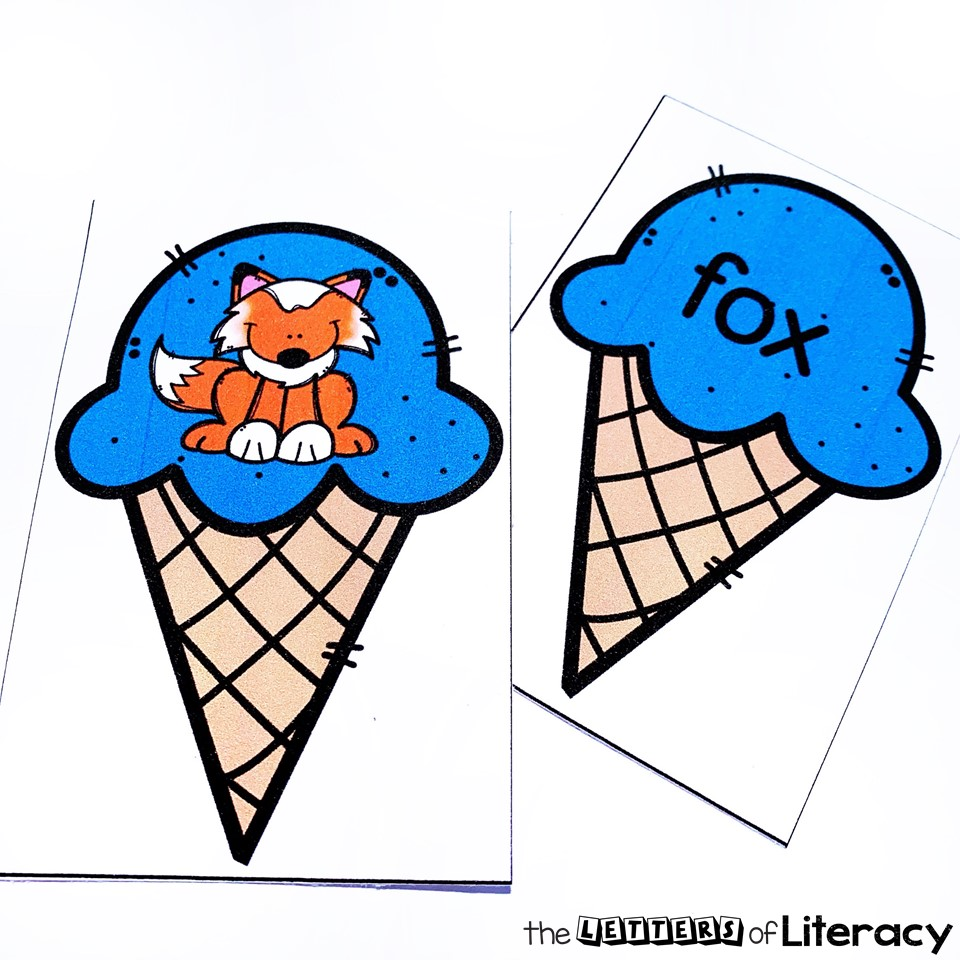 Get our FREE Printable Ice Cream CVC Word Match game for your summer-themed literacy center! It's perfect for small groups, pairs or independent work!