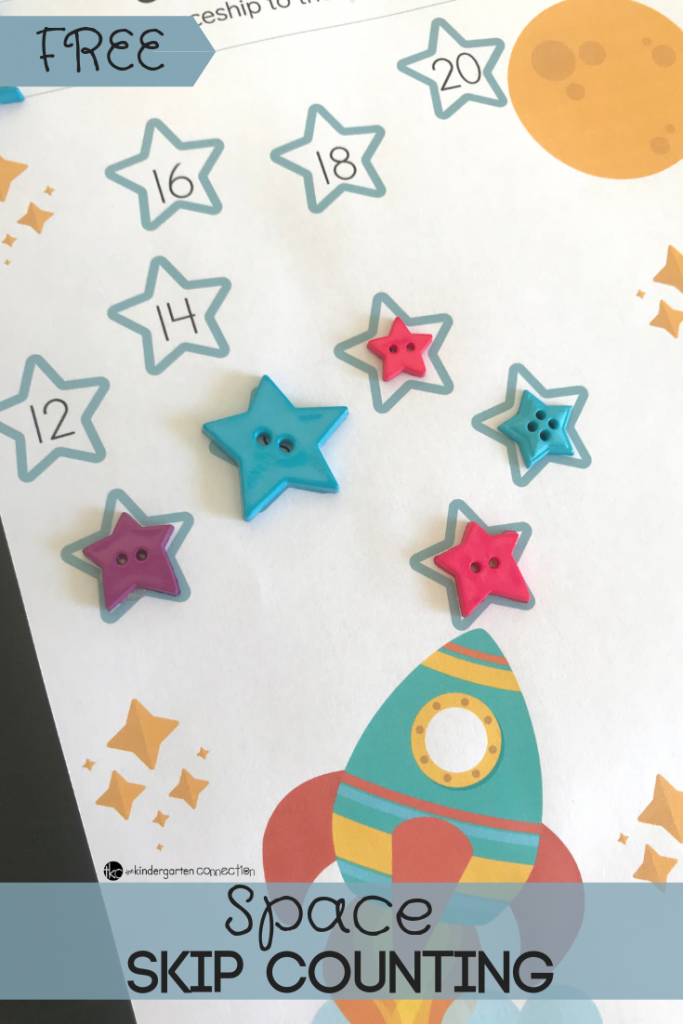 Grab our FREE Printable Space Skip Counting Printables for counting by 2's, 5's and 10's. These will be perfect for working in pairs and math centers!