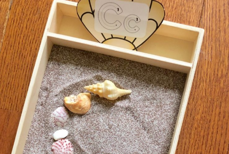 Ocean Alphabet Sensory Writing Tray