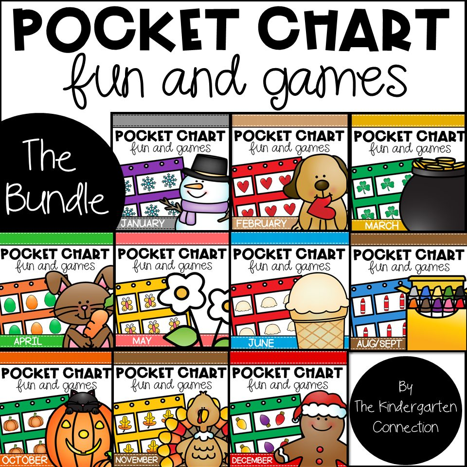 Pocket Chart Bundle for the Year