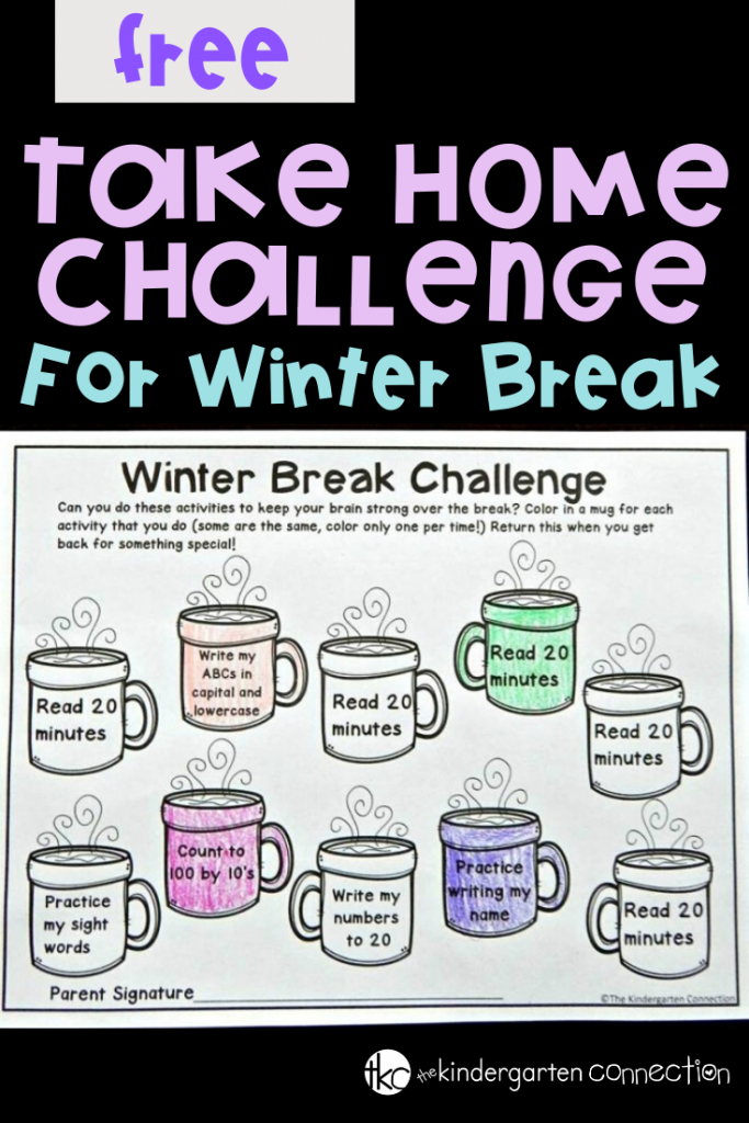 A fun, free, and editable winter break homework provides a great way for students to keep up some skills and good habits over break, all while still enjoying their time off! #freeprintable #kindergartenteacher #brainslump #winteractivitiesforkids