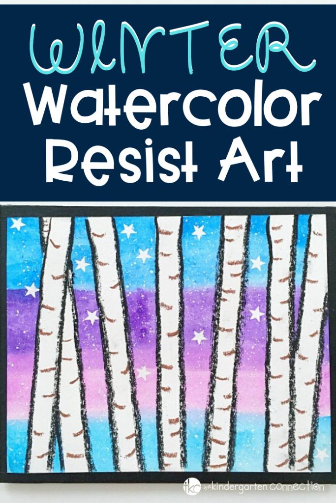 A simple art project for your classroom this winter. Watercolor Resist is such a fun way to explore art with kids! #kindergartenart #artforkids #watercolor #kindergartenteacher