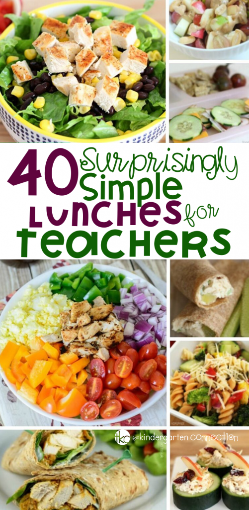 This list of 40 teacher lunches is perfect to keep on hand for back to school season or anytime. Make packing a teacher lunch for school easy! #teacherlife #easylunches #healthylunchrecipes #lunch